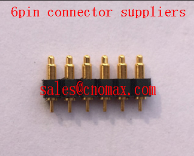 4.5mm high 6pin Mill-max pogo pin connector