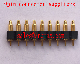 4.5mm high 9pin Mill-max pogo pin connector
