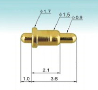 Double head spring loaded pin