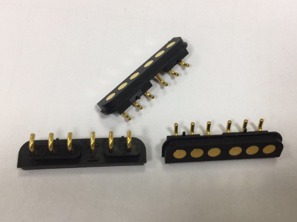 6pin Single Female&male pogo pin connector