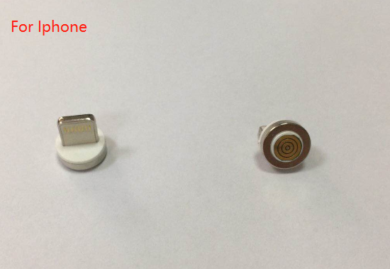 Magnetic connector with cable for iphone